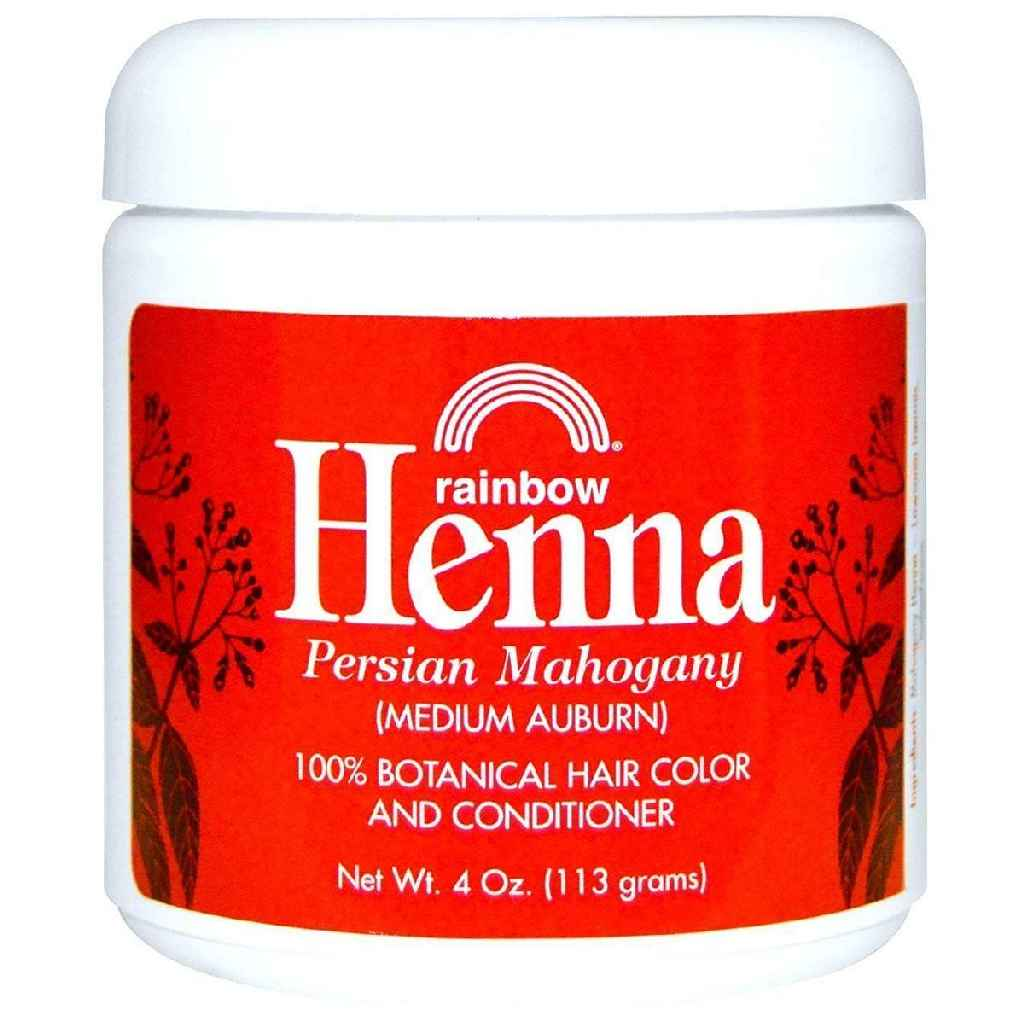 Rainbow Research Henna Hair Color And Conditioner Persian Mahogany Medium Auburn - 4 Oz