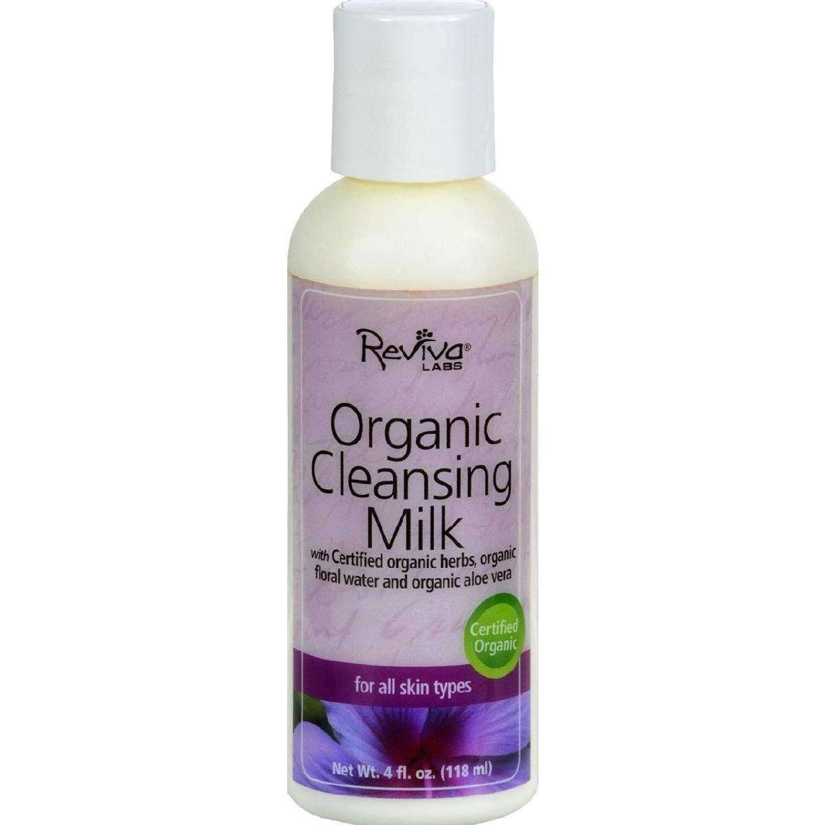 Reviva Labs Organic Cleansing Milk - 4 Fl Oz