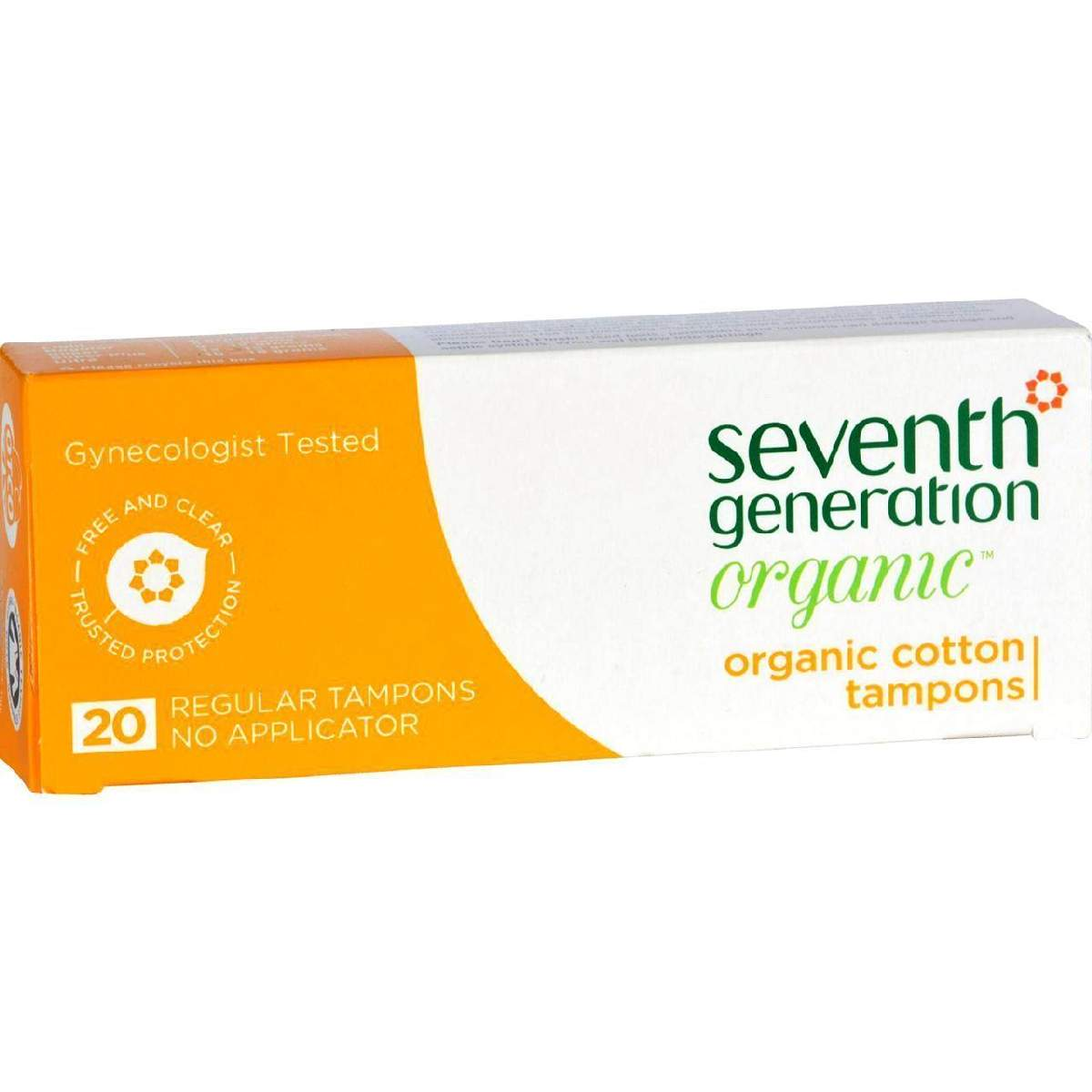 Seventh Generation Tampons - Applicator Free Regular - 20 Ct - Case Of 12
