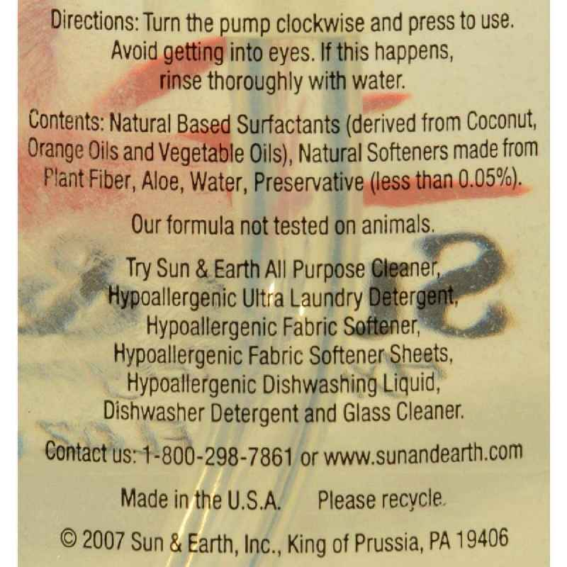 Sun And Earth Natural Liquid Hand Soap - 8 Fl Oz