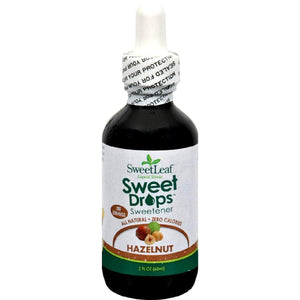 Sweet Leaf Liquid Stevia Drops - Hazelnut - 2 Oz