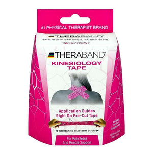 Theraband Kinesiology Tape Precut Roll 20 Strips 2X10