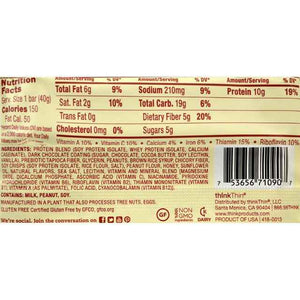 Think Products Thinkthin Bar - Lean Protein Fiber - Honey Peanut - 1.41 Oz - 1 Case