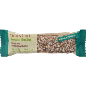 Think Products Thinkthin Crunch Bar - Coconut Chocolate Mixed Nuts - 1.41 Oz - Case Of 10