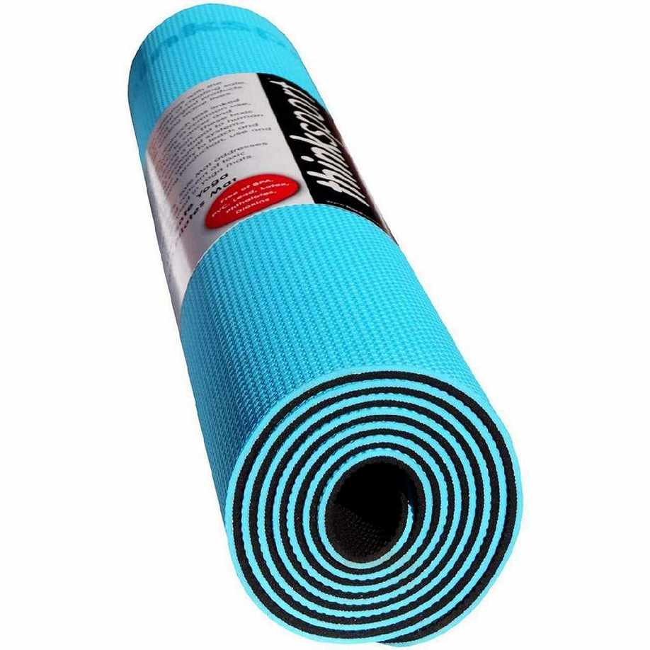 Thinksport Yoga Mat - Black-Bright Blue