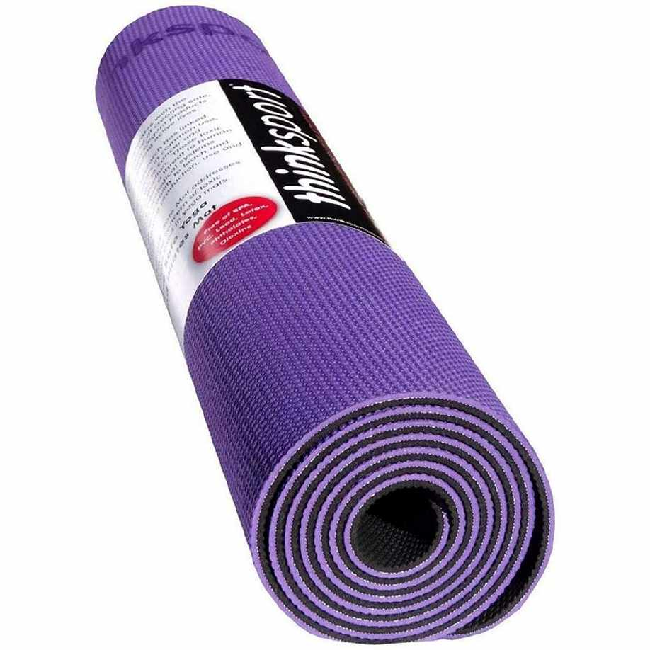 Thinksport Yoga Mat - Purple-Black