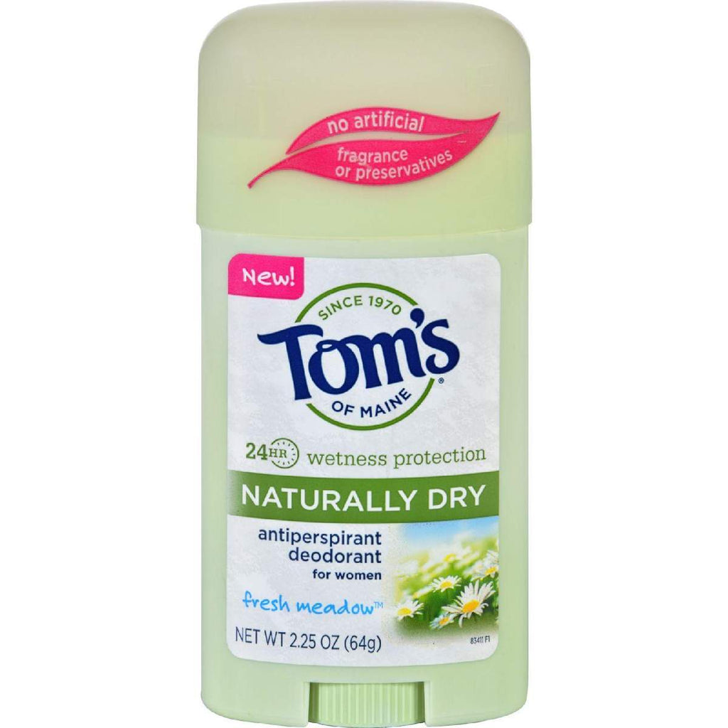 Toms Of Maine Deodorant - Naturally Dry - Stick - Fresh Meadow - 2.25 Oz - Case 6