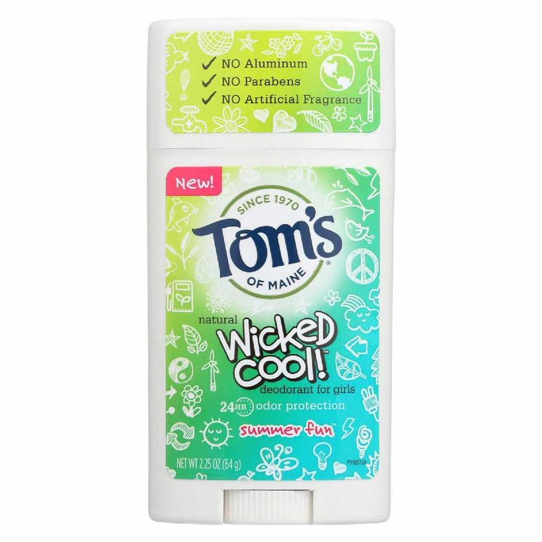 Toms Of Maine Deodorant Stick - Wicked Cool - Girls - Case 6 - 2.25 Oz