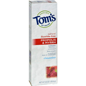 Toms Of Maine Propolis And Myrrh Toothpaste Cinnamint - 5.5 Oz - Case 6