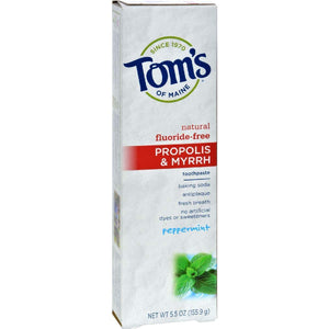 Toms Of Maine Propolis And Myrrh Toothpaste Peppermint - 5.5 Oz - Case 6