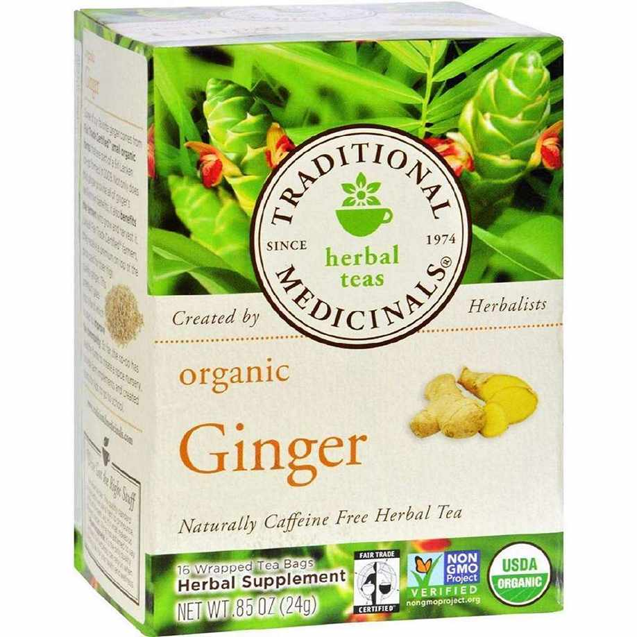 Traditional Medicinals Organic Ginger Herbal Tea - 16 Bags - Case Of 6