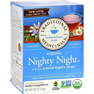 Traditional Medicinals Organic Nighty Night Herbal Tea - 16 Bags - Case Of 6
