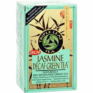 Triple Leaf Tea Jasmine Green - Decaffeinated - Case Of 6 - 20 Bags