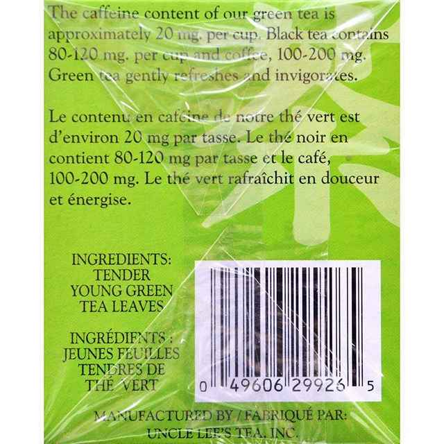 Uncle Lees Tea Green - Case Of 6 - 20 Bags