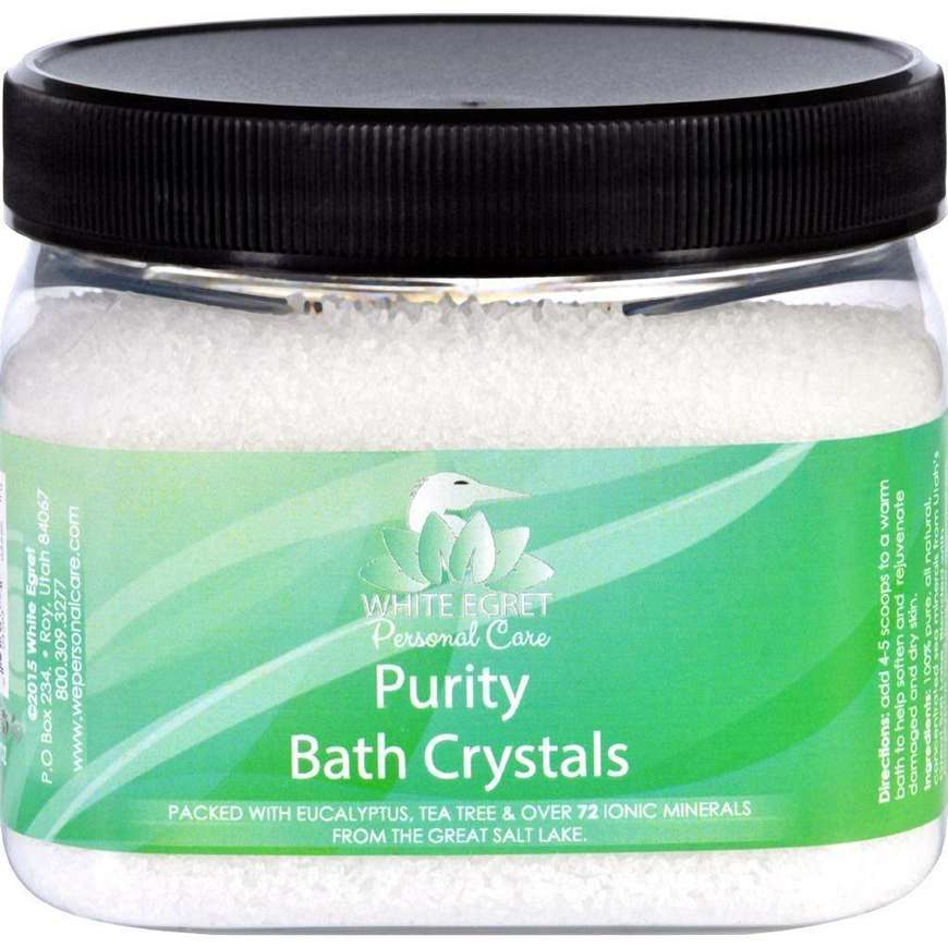White Egret Bath Crystals - Purity - 16 Oz