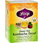 Yogi Herbal Green Tea Caffeine Free Kombucha - 16 Bags - Case Of 6