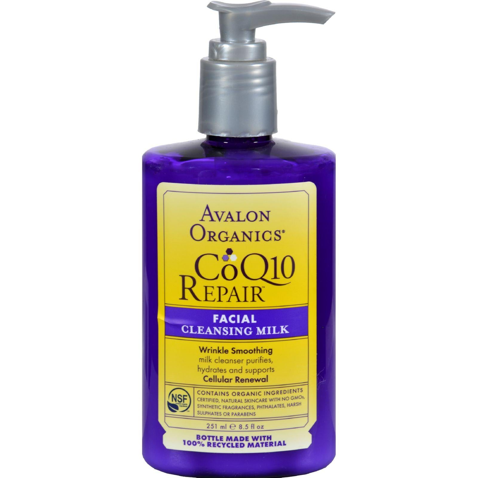 Avalon Organics Facial Cleansing Milk - 8.5 Fl Oz