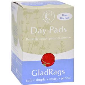 Gladrags Color Cotton Day Pad - 3 Pack (Reusable Sanitary Napkin)