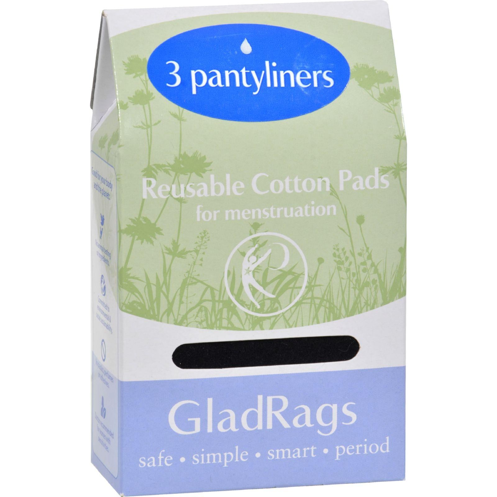 Gladrags Color Cotton Pantyliner - 3 Pack (Reusable Cloth Panty Liners)