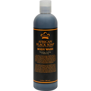 Nubian Heritage African Black Soap Body Wash And Scrub - 13 Fl Oz