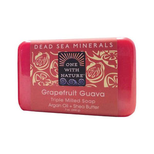 One With Nature Triple Milled Soap Bar - Grapefruit Guava - 7 Oz