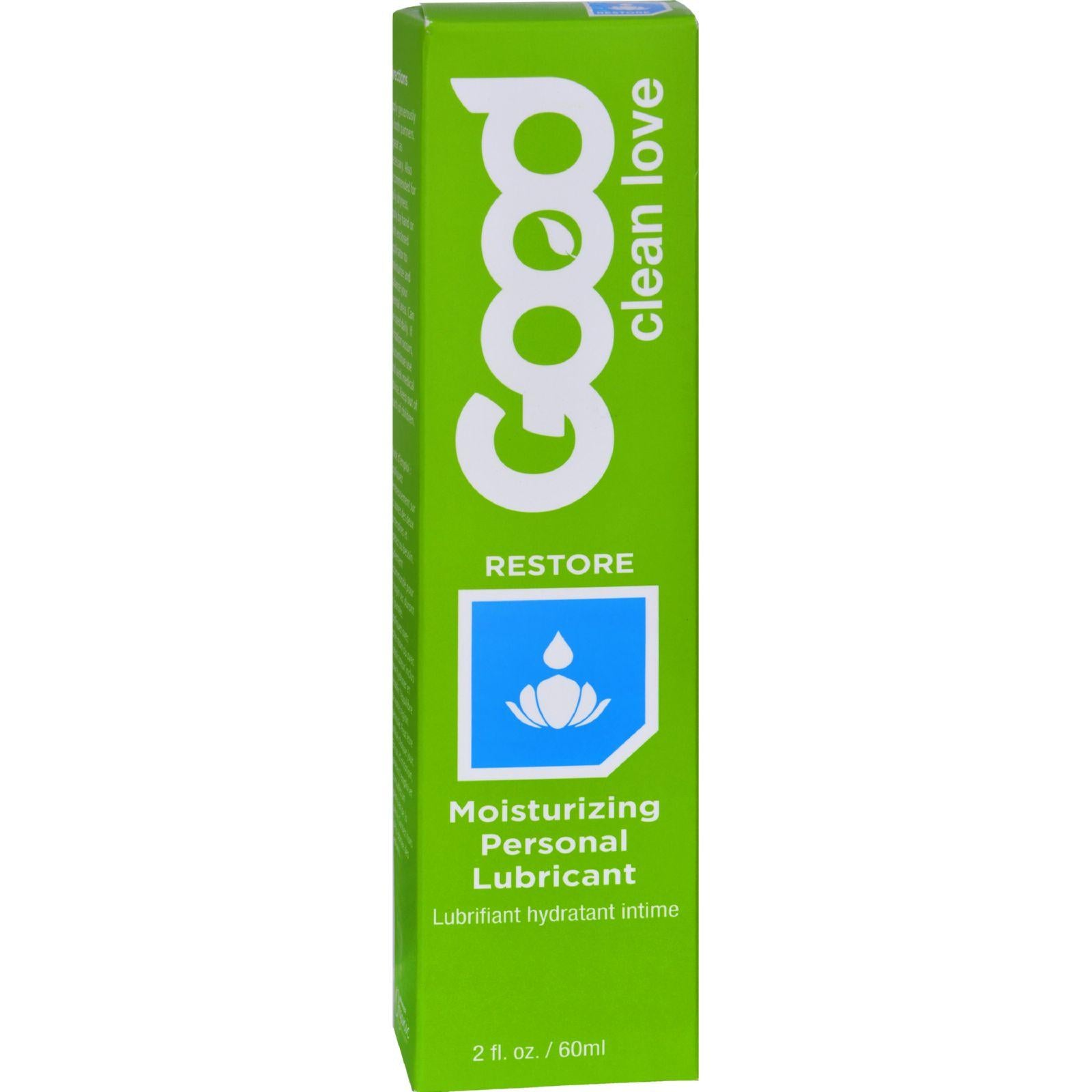 Good Clean Love Personal Lubricant - Moisturizing - Biomatch Restore - 2 Oz