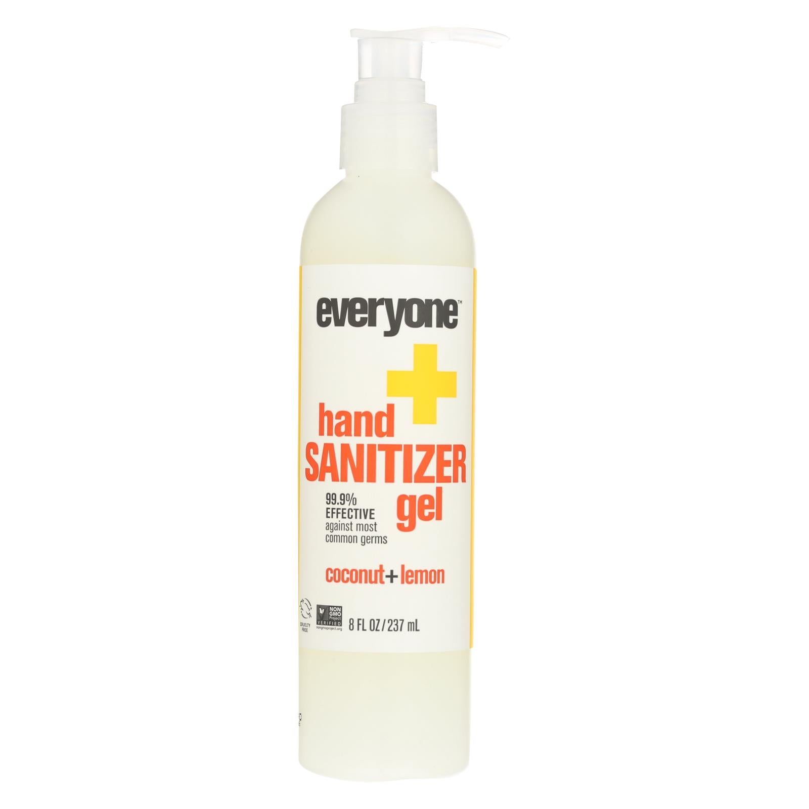 Everyone Hand Sanitizer Gel - Natural - Coconut And Lemon - 8 Oz
