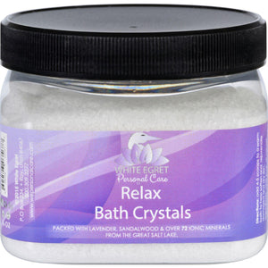 White Egret Bath Crystals - Relax - 16 Oz