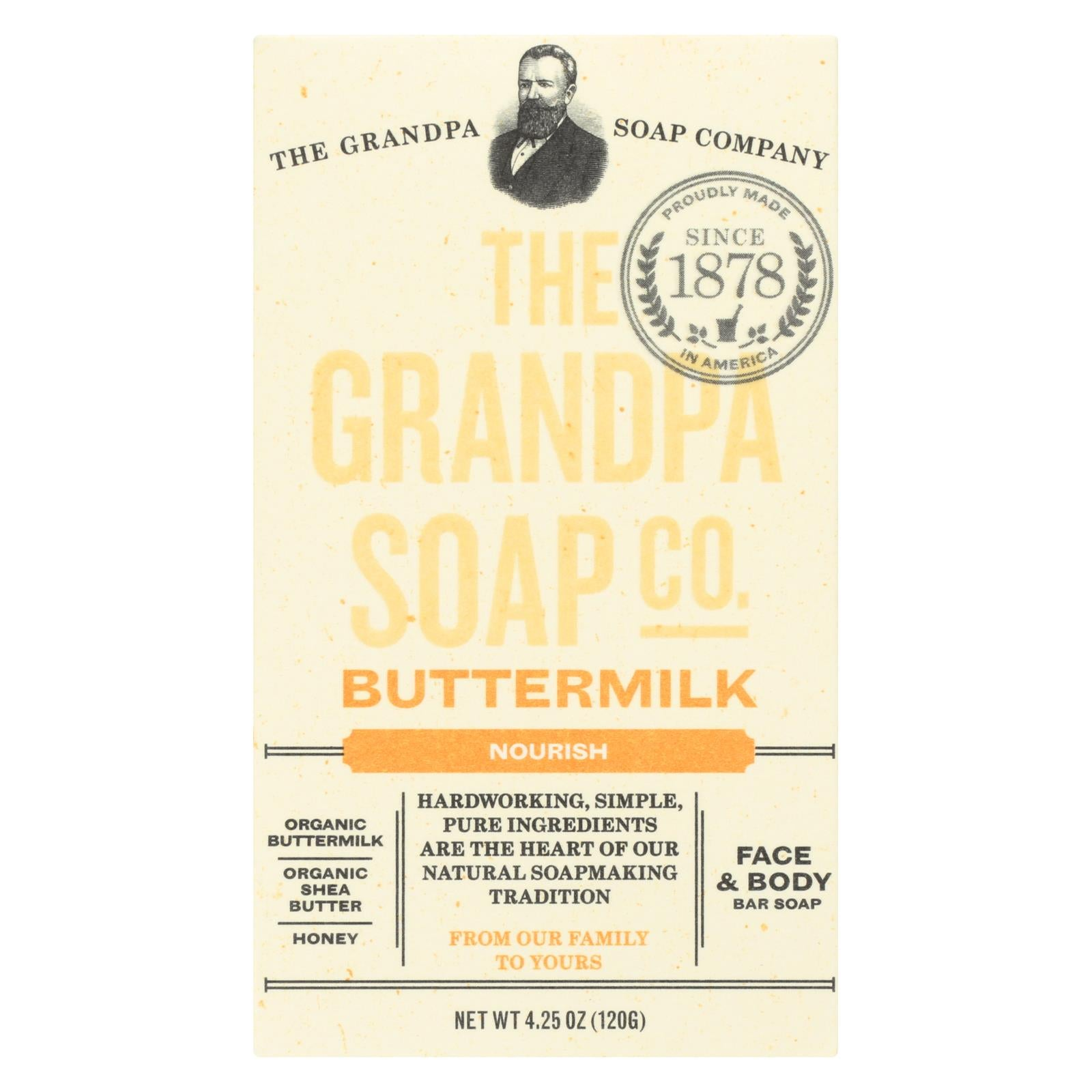 Grandpa Soap Soap - Buttermilk - 4.25 Oz