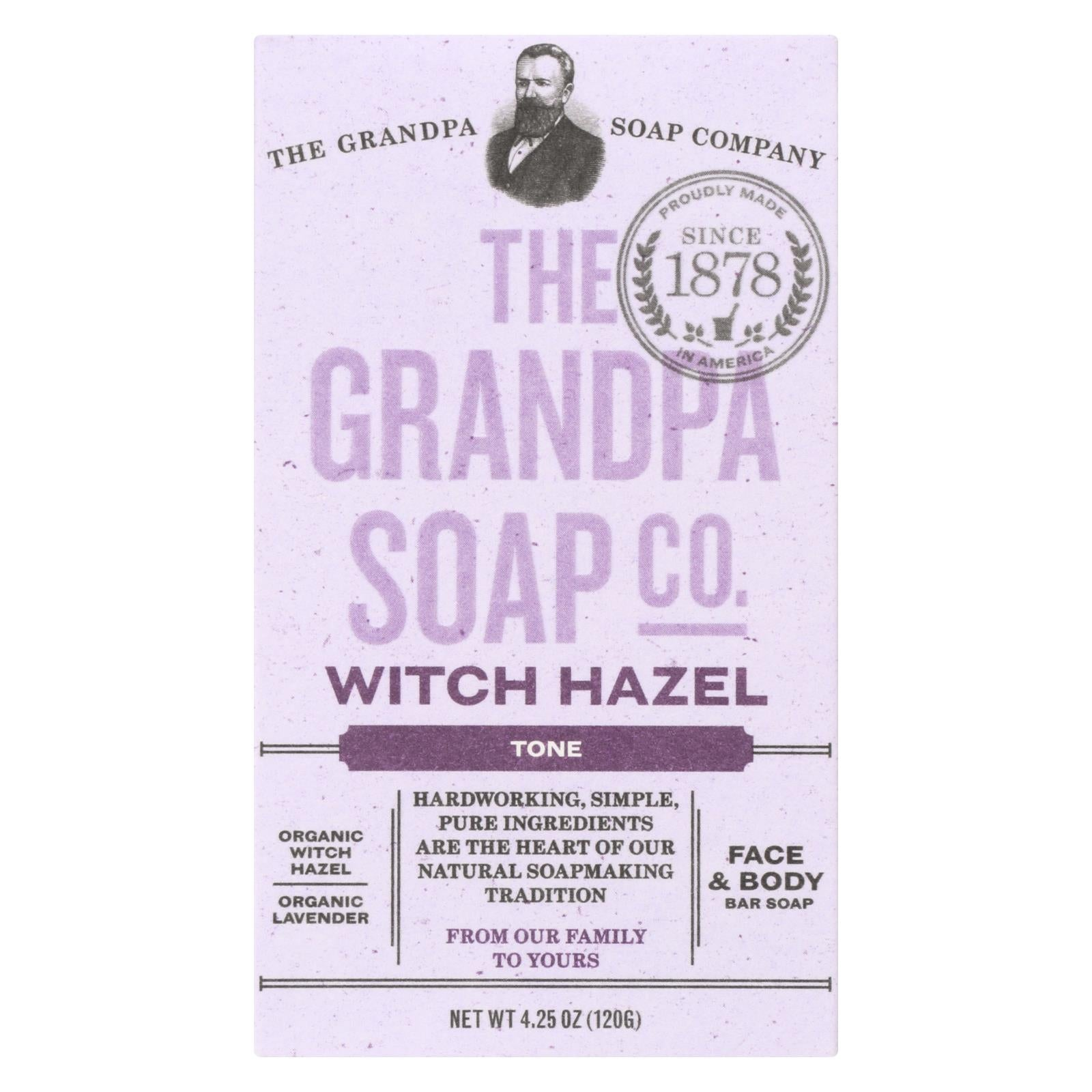 Grandpa Soap Soap - Witch Hazel - 4.25 Oz