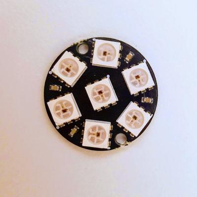 7 Pixel WS2812 RGB LED Badge - TinkerTech