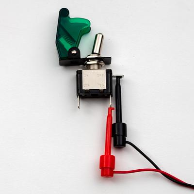 Illuminated toggle switch with cover - TinkerTech