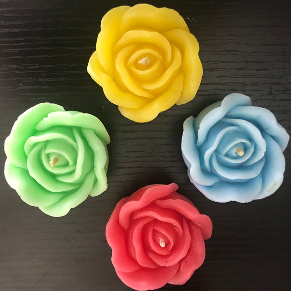 Rose Candle - Gift Set of 4 - The Simple Flair