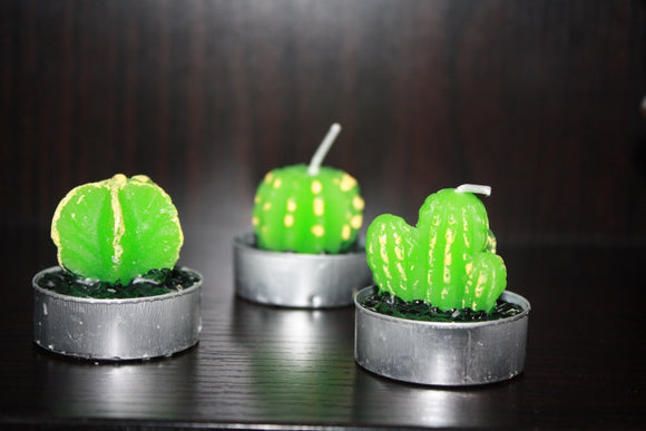 Cactus Tealight Candle : Set of 3 - The Simple Flair