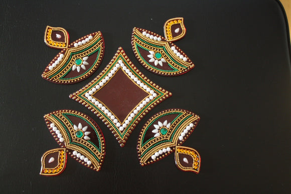 Diya Rangoli - The Simple Flair