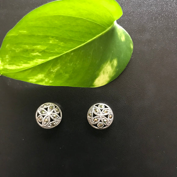 Elegant Silver Stud Earrings - The Simple Flair