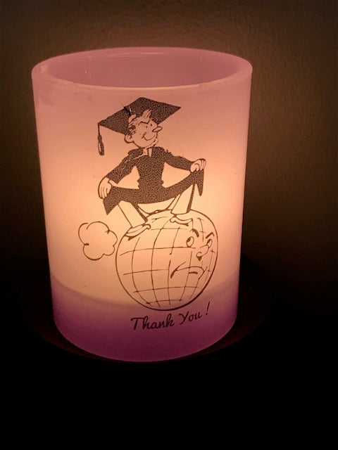 Graduation Candle :  Luminary - The Simple Flair