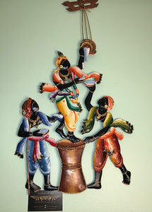 Makhan Chor :  Metal Wall Decor - The Simple Flair