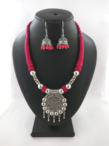 Oxidized Thread Necklace set - World - The Simple Flair