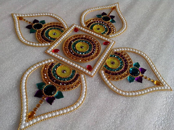 Elegant floating Rangoli - The Simple Flair