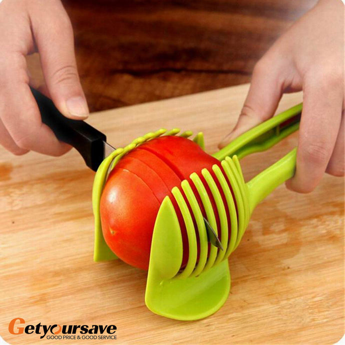 Novel Tomato Slicer Fruits Cutter Stand Utensilios De Cozinha Assistant Lounged Tomato Lemon Shreadders Slicer