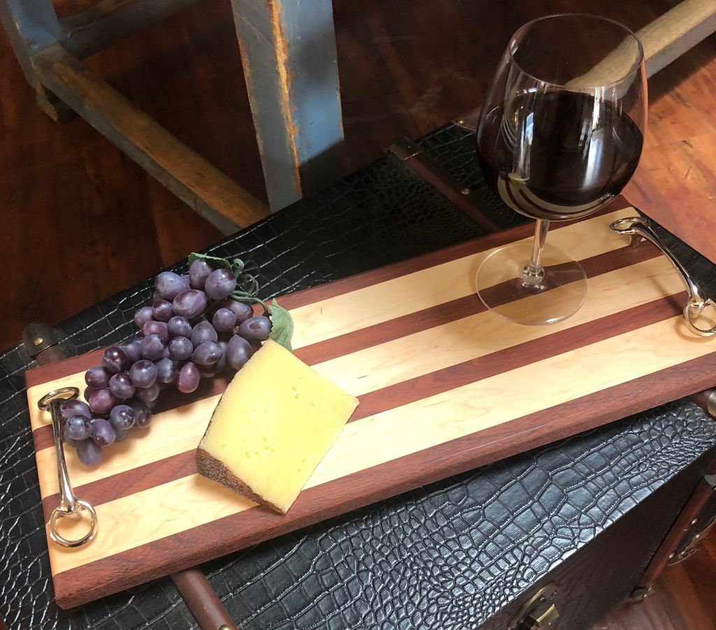 Shop Equestrian Wood Serving Board - Malvern Saddlery