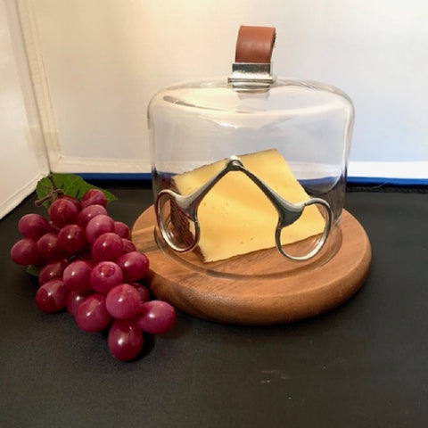 Shop Domed Equestrian Cheese Board with Snaffle Bit Detail - Malvern Saddlery