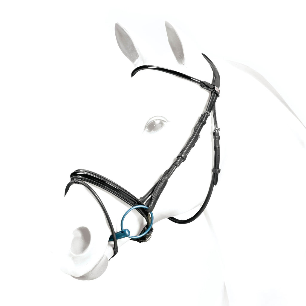 Shop Equipe Rolled Flash Dressage Bridle - Malvern Saddlery