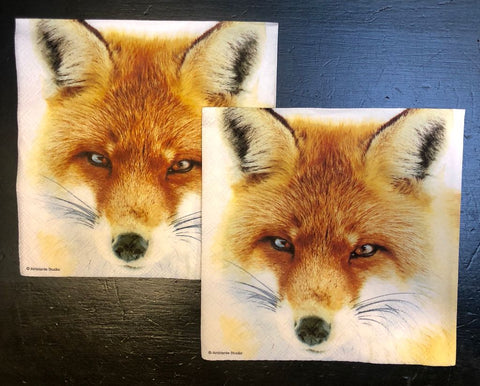 Fox Mask Luncheon Napkins - Malvern Saddlery
