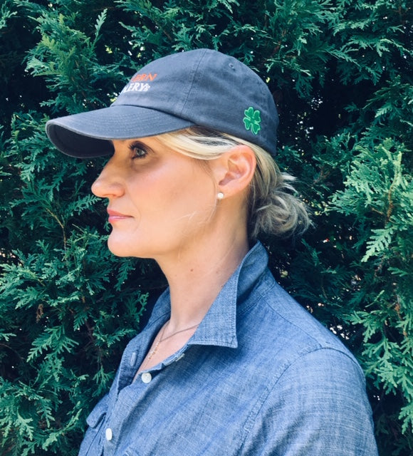 MS Baseball Cap with Embroidered Shamrock for Kevin Babington - Malvern Saddlery