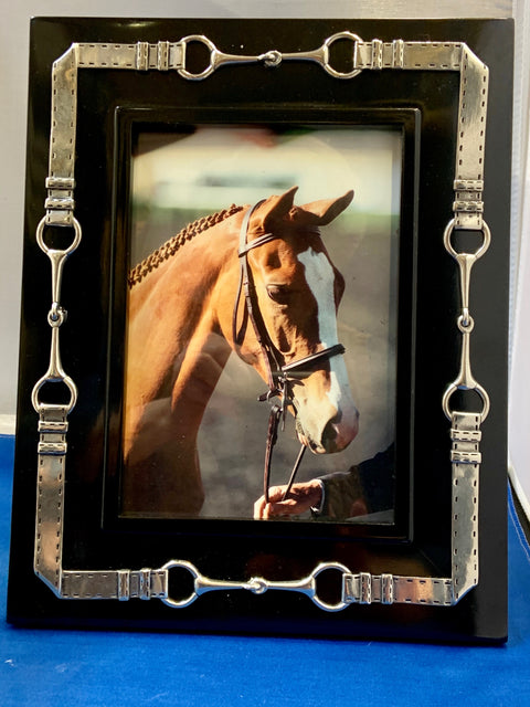 Shop 5x7 Black with Pewter Equestrian Frame - Malvern Saddlery