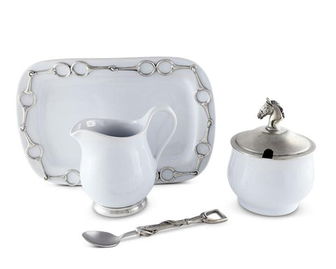 Equestrian Sugar and Cream Set