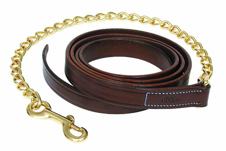 Walsh Leather Lead with 30in Chain - Malvern Saddlery