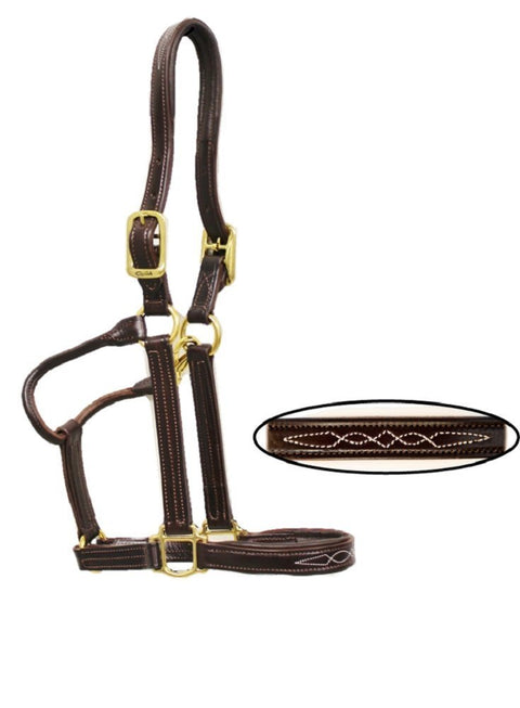 Walsh Fancy Stitch Padded Halter - Malvern Saddlery